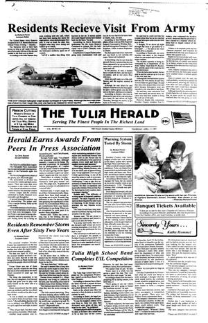 Primary view of object titled 'The Tulia Herald (Tulia, Tex.), Vol. 89, No. 16, Ed. 1 Thursday, April 17, 1997'.
