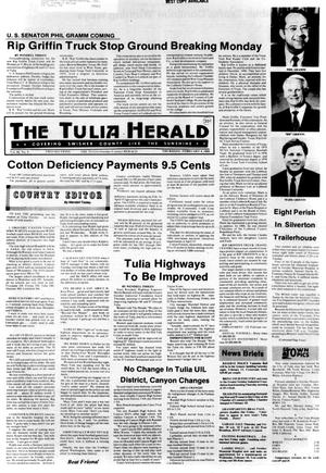 Primary view of object titled 'The Tulia Herald (Tulia, Tex.), Vol. 80, No. 5, Ed. 1 Thursday, February 4, 1988'.