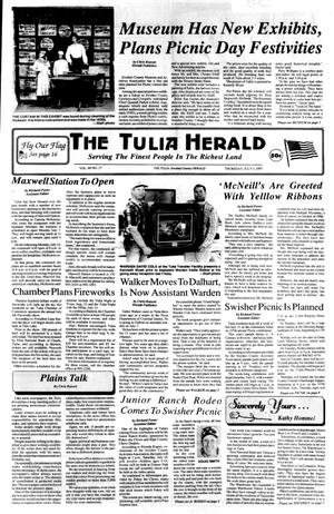 Primary view of object titled 'The Tulia Herald (Tulia, Tex.), Vol. 89, No. 27, Ed. 1 Thursday, July 3, 1997'.