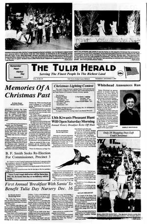 Primary view of object titled 'The Tulia Herald (Tulia, Tex.), Vol. 87, No. 49, Ed. 1 Thursday, December 7, 1995'.