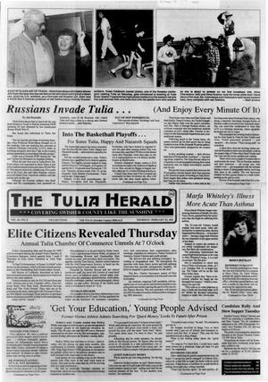 Primary view of object titled 'The Tulia Herald (Tulia, Tex.), Vol. 84, No. 8, Ed. 1 Thursday, February 20, 1992'.