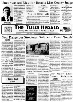 Primary view of object titled 'The Tulia Herald (Tulia, Tex.), Vol. 86, No. 45, Ed. 1 Thursday, November 10, 1994'.
