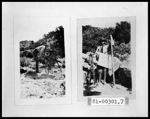 Primary view of object titled 'Surveyor; Man Posing With Surveyor Instruments'.