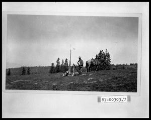 Primary view of object titled 'Surveyor With Horse and Survey Equipment'.