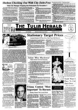Primary view of object titled 'The Tulia Herald (Tulia, Tex.), Vol. 82, No. 43, Ed. 1 Thursday, October 25, 1990'.
