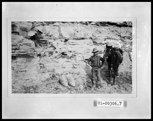 Primary view of object titled 'Geological Formation & Man with Horse'.