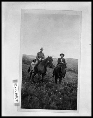Primary view of object titled 'Two Men On Horseback On Praire'.