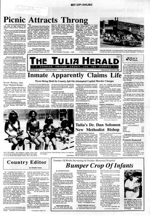 Primary view of object titled 'The Tulia Herald (Tulia, Tex.), Vol. 80, No. 29, Ed. 1 Thursday, July 21, 1988'.