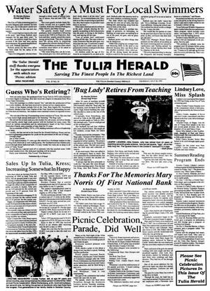 Primary view of object titled 'The Tulia Herald (Tulia, Tex.), Vol. 87, No. 29, Ed. 1 Thursday, July 20, 1995'.