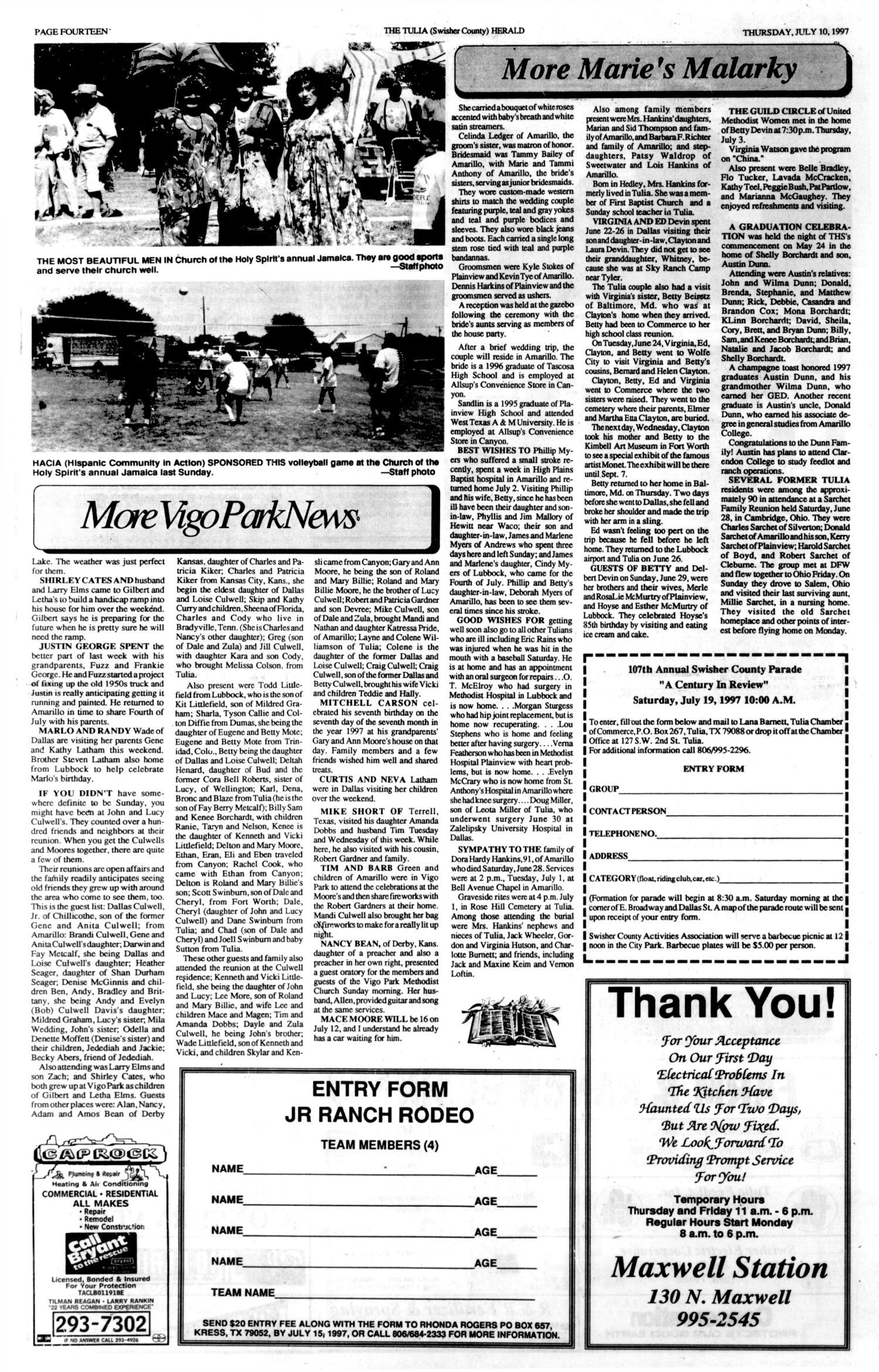 The Tulia Herald (Tulia, Tex ), Vol  89, No  28, Ed  1