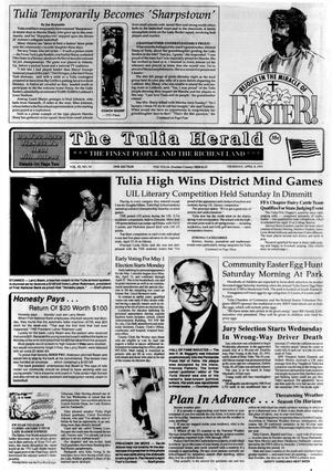 Primary view of object titled 'The Tulia Herald (Tulia, Tex.), Vol. 85, No. 14, Ed. 1 Thursday, April 8, 1993'.