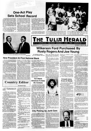 Primary view of object titled 'The Tulia Herald (Tulia, Tex.), Vol. 80, No. 17, Ed. 1 Thursday, April 28, 1988'.