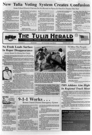 Primary view of object titled 'The Tulia Herald (Tulia, Tex.), Vol. 84, No. 18, Ed. 1 Thursday, April 30, 1992'.