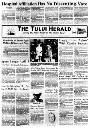 Primary view of object titled 'The Tulia Herald (Tulia, Tex.), Vol. 87, No. 15, Ed. 1 Thursday, April 13, 1995'.