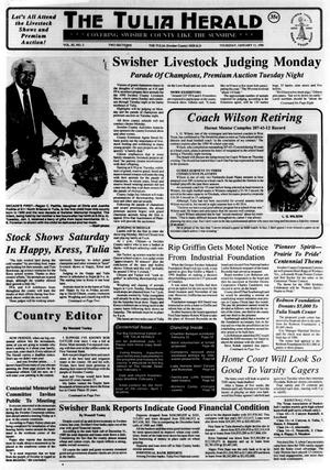 Primary view of object titled 'The Tulia Herald (Tulia, Tex.), Vol. 82, No. 2, Ed. 1 Thursday, January 11, 1990'.