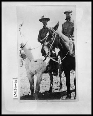 Primary view of object titled 'Two Men on Horseback'.