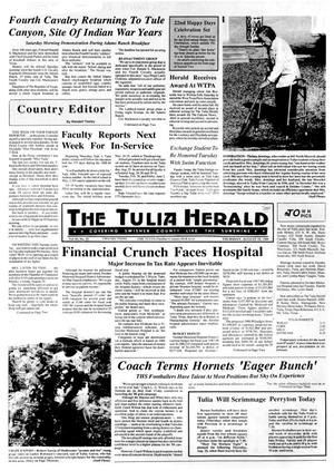 Primary view of object titled 'The Tulia Herald (Tulia, Tex.), Vol. 80, No. 33, Ed. 1 Thursday, August 18, 1988'.