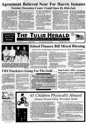 Primary view of The Tulia Herald (Tulia, Tex.), Vol. 83, No. 17, Ed. 1 Thursday, April 25, 1991