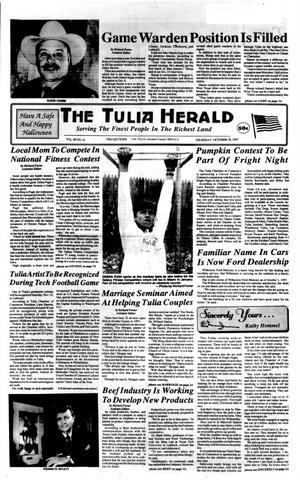 Primary view of The Tulia Herald (Tulia, Tex.), Vol. 89, No. 44, Ed. 1 Thursday, October 30, 1997
