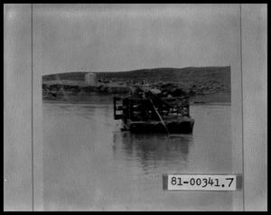 Primary view of object titled 'Barge Crossing A River'.