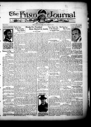 Primary view of The Frisco Journal (Frisco, Tex.), Vol. 23, No. 52, Ed. 1 Friday, February 18, 1927