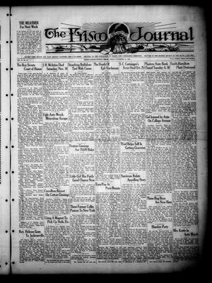 Primary view of object titled 'The Frisco Journal (Frisco, Tex.), Vol. 27, No. 45, Ed. 1 Friday, November 16, 1928'.