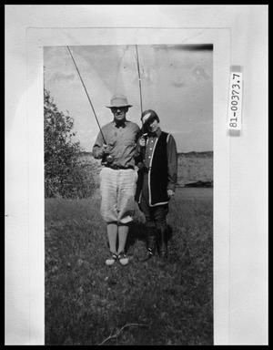 Primary view of object titled 'Man and Woman with Fishing Poles'.