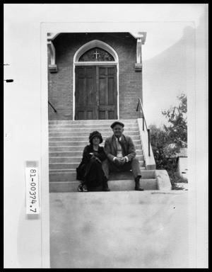 Primary view of object titled 'Elderly Man and Woman on Church Steps'.