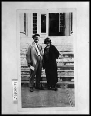 Primary view of object titled 'Elderly Couple on on Church Steps'.