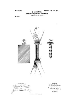 Primary view of object titled 'Spring Attachment for Suspenders.'.