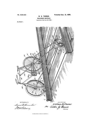Primary view of object titled 'Railroad-Bicycle.'.