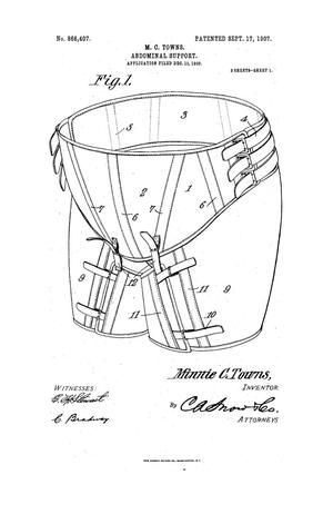 Primary view of object titled 'Abdominal Support'.