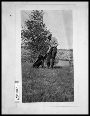 Primary view of object titled 'Man with Dog and Fishing Pole'.