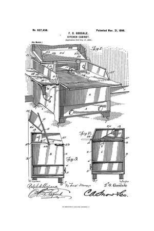 Primary view of object titled 'Kitchen-Cabinet.'.