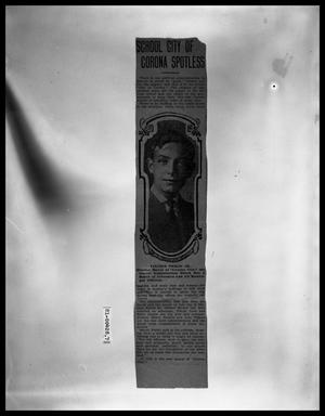 Primary view of object titled 'News Article Vincent Perini Jr. Elected Mayor of Corona City'.