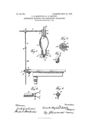 Primary view of object titled 'Anesthetic Holding And Dispensing Apparatus'.