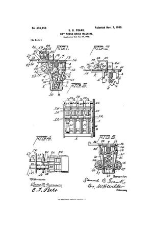 Primary view of object titled 'Dry-Press Brick-Machine.'.