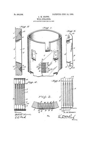Primary view of object titled 'Well-Strainer.'.