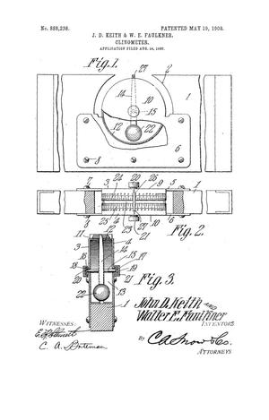 Primary view of object titled 'Clinometer'.