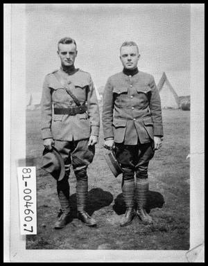 Primary view of object titled 'Two Men in Uniform'.