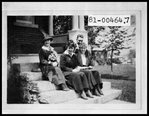 Primary view of object titled 'Man and Three Women Sitting on Stairs'.