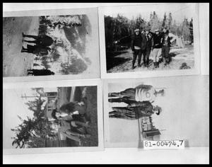 Primary view of object titled '[Photograph of Man and Woman in Mountains; Four Men; Oscar Temple and Woman; Man and Woman]'.