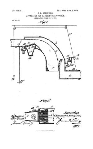 Primary view of object titled 'Apparatus For Handling Seed Cotton'.
