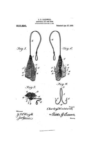 Primary view of object titled 'Artificial Fly Fish Hook'.