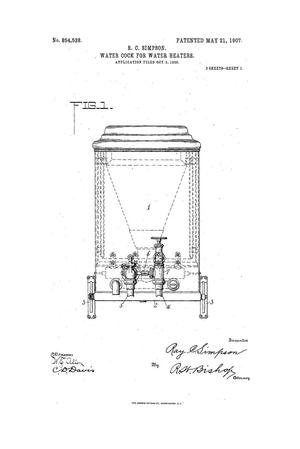 Primary view of object titled 'Water-Cock for Water-Heaters.'.