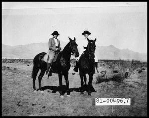 Primary view of object titled '1930s People on Horses'.