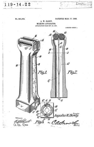 Primary view of object titled 'Milking Apparatus.'.