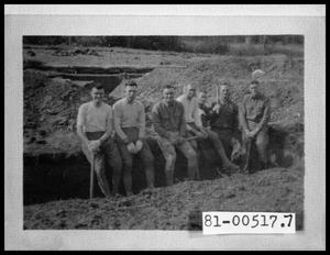 Primary view of object titled 'Army Troops in Trench'.