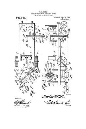 Primary view of object titled 'Steering Mechanism for Motor-Plows.'.