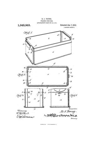 Primary view of object titled 'Folding Feed-Box.'.